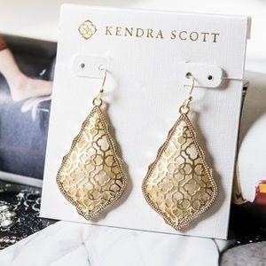 Kendra Scott Addie Earrings in Gold Filigree New